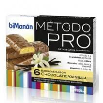 Bimanán Pro Barritas Chocolate Vainilla, 6u