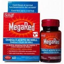 MegaRed Omega-3 Aceite de Krill 500ml, 60 cápsulas