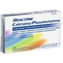Reactine Cetirizina/Pseudoefedrina 5/120 mg 14 comp. liberación prolongada
