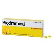 Biodramina 50 mg, 12 comp.