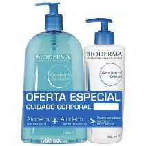 Bioderma Atoderm Gel 1L + Crema 500ml