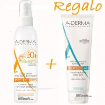 Aderma Protect Solar Infantil Spray SPF50+ , 200ml + REGALO Aderma Protect AH Aftersun  100 ml