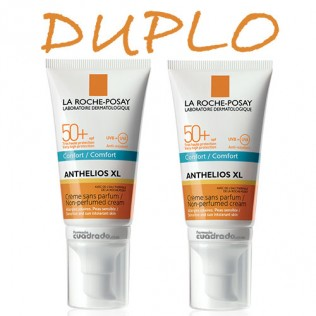 Anthelios Duplo Confort Sin Perfume 50+ 2x50ml