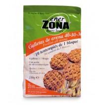 Enerzona Snack Galletas Avena, 250 g 40 Galletas