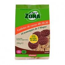 Enerzona Snack Galletas Cacao, 250 g 40 Galletas