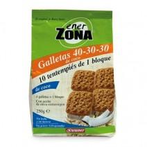 ENERZONA 40-30-30 SNACK GALLETAS COCO  250 G 40 GALLETAS