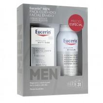 Eucerin Men PACK Cuidado Revitalizante Dia, 50 ml + REGALO Espuma Afeitar 150 ml
