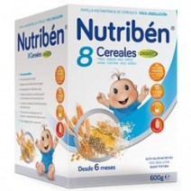 Nutribén Papilla 8 Cereales Digest Efecto Bífidus, 600gr