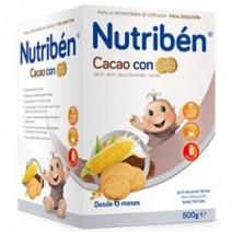 Nutribén 12 Cereales Cacao y Galletas Maria 600g
