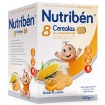 Nutribén 8 Cereales Con Miel y Galletas Maria 600g