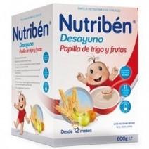Nutribén Desayuno Papilla De Trigo Y Frutas, 600g