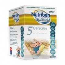 Nutribén Innova Papilla 5 Cereales +5m, 600g