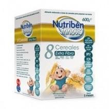 Nutribén Innova Papilla 8 Cereales Extra Fibra +5m, 600g