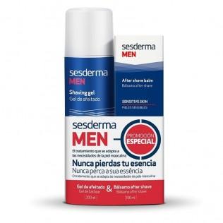 Sesderma Pack Men Gel Afeitado 200ml + balsamo After Shave 100ml