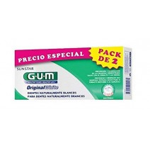 GUM DUPLO PACK WHITE PASTA2X75ML