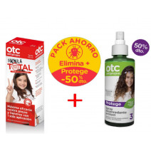OTC Pack Antipiojos Formula Total Spray 125ml + Spray Desenredante Protector