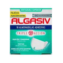 Algasiv Almohadillas Adhesivas Dentadura Superior, 30 unds
