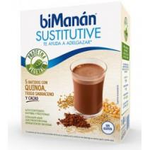 Bimanan Sustitutive Batido Quinoa Trigo Sarraceno Cacao, 5Sobres x 55g