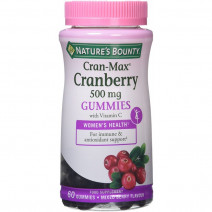 Nature´s Bounty Cran-Mac Cranberry 500mg 60 gummies