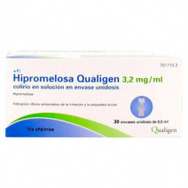 HIPROMELOSA QUALIGEN 3.2 MG/ML COLIRIO 30 MONODOSIS SOLUCION 0.5 ML