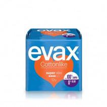 Evax Cottonlike Super Compresas con Alas 12u