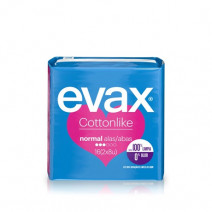 Evax Cottonlike Normal Compresas con Alas 16u