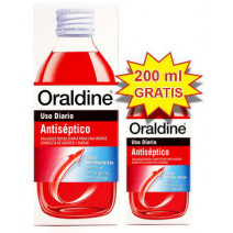Oraldine Antiséptico Colutorio, 400ml+REGALO 200ml
