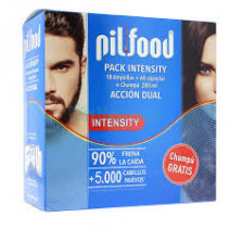 Pilfood Pack Intensity18 ampollas con Pro-Anagex+ 60 capsulas+ Champú Anti Caída ,200ml