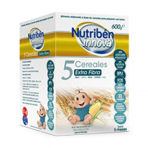 Nutribén Innova Papilla 5 Cereales Extra Fibra +5m, 600g