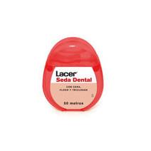 Lacer Seda Dental Con Cera, Flúor y Triclosán, 50m