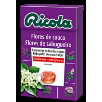 Ricola caramelos Din Azucar Flores de Saúco 50g