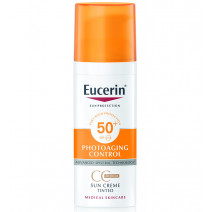 Eucerin Solar Photoaging Control CC Cream Tono Medio SPF50+, 50ml