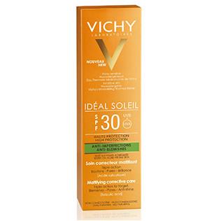 Vichy Ideal Soleil SPF30 Antiimperfecciones 3 en 1, 50 ml + REGALO 15 Dias Ritual Antiimperfecciones