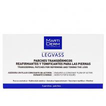 Martiderm Vascular Legvass Transdérmico Tonificante, 3 parches