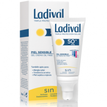 Ladival Gel-Crema Piel Sensible/Alergica SPF50+ 50ml + Regalo Stick Labial SPF15