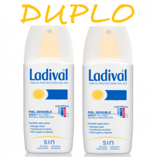 Ladival DUPLO Piel Sensible Spray SPF15 , 2x150ml
