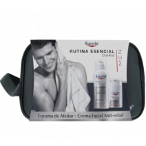 Eucerin PACK Men Crema Facial Antiedad 50ml + Espuma de Afeitar 150ml