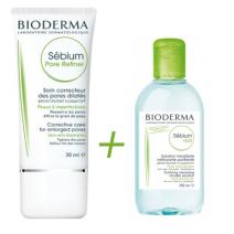 Bioderma Sebium Pore Refiner 30ml + Micelar 100ml