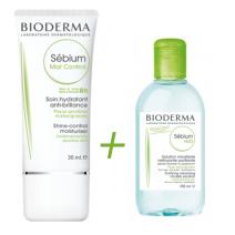 Bioderma Sebium Mat Control 40ml + Micelar 100ml