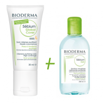 Bioderma Sebium Gloval Cover 30ml +  Micelar 100ml