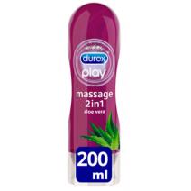 Durex Play Massage 2 en 1 Gel de Masaje y Lubricante con Aloe Vera, 200ml