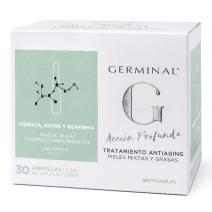 GERMINAL ACCION PROFUNDA TRATAMIENTO ANTIAGING  PIEL NORMAL/MIXTA 30 AMPOLLAS X 1,5 ML