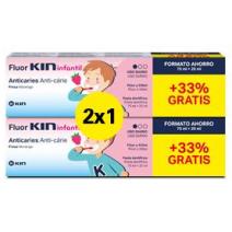 FLUOR KIN DUPLO INFANTIL PASTA DENTIFRICA FRESA 75 ML