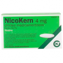 NICOKERN 4 MG 24 CHICLES SABOR MENTA