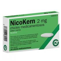 NICOKERN 2 MG 24 CHICLES SABOR MENTA