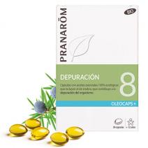 Pranarom Oleocaps 8 Drenaje y Eliminación de Toxinas 30 cápsulas