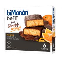 Bimanán Pro Barritas Chocolate Naranja, 6u