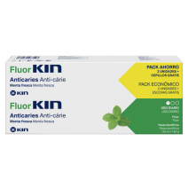 FLUOR KIN DUPLO PASTA ANTICARIES 2X125 ML