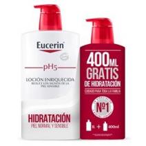 Eucerin Locion enriquecida 1000 ml + Regalo Locion Enriquecida Eco Pack 400 ml