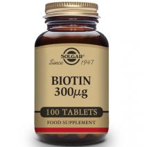 Solgar Biotina 300 µg - 100 Comprimidos